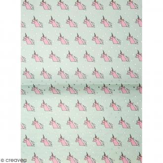 Papier décoratif à l'unité - Magical Summer - 30 x 42 cm - Licornes