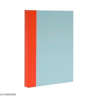 Bloc note Color - Bullet Journal - Bleu ciel et orange - A6 - Feuilles Lignées