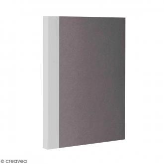 Bloc note Color - Bullet Journal - Gris - A6 - Feuilles Blanches unies
