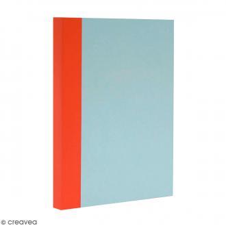 Bloc note Color - Bullet Journal - Bleu ciel et orange - A5 - Feuilles Lignées