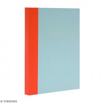 Bloc note Color - Bullet Journal - Bleu ciel et orange - A5 - Feuilles Blanches unies