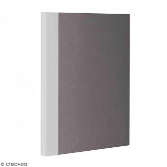 Bloc note Color - Bullet Journal - Gris - A5 - Feuilles Blanches unies