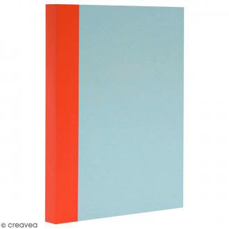 Bloc note Color - Bullet Journal - Bleu ciel et orange - XL - Feuilles Lignées