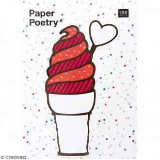 Notes adhésives Magical Summer - Cornet de glace - 50 feuilles