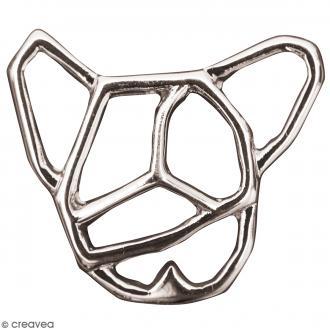 Pendentif breloque Origami - Chien - Argenté - 1 pce