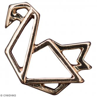 Pendentif breloque Origami - Cygne - Doré - 1 pce