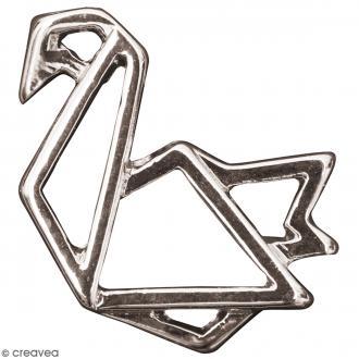 Pendentif breloque Origami - Cygne - Argenté - 1 pce
