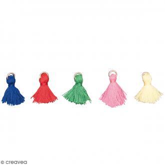 Set de pendentifs breloques pompons glands - Classique - 5 pcs