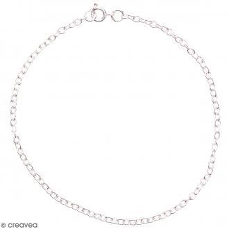 Chaine bracelet à maillons - Argenté - 22 cm