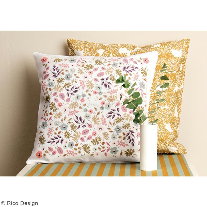 tissu rico toile de jouy rayures dor es fond menthe par 10 cm sur mesure toile. Black Bedroom Furniture Sets. Home Design Ideas