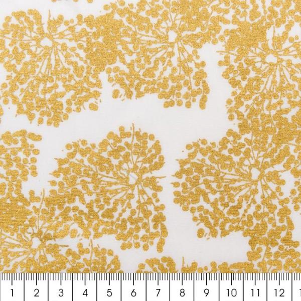 Tissu Rico - Toile de Jouy - Allium - fond Blanc - Par 10 cm (sur mesure) - Photo n°2