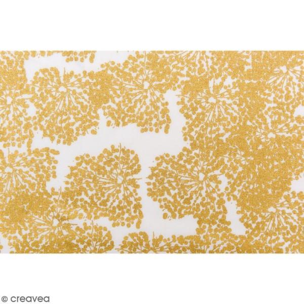 Tissu Rico - Toile de Jouy - Allium - fond Blanc - Par 10 cm (sur mesure) - Photo n°3