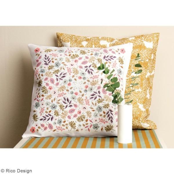Tissu Rico - Toile de Jouy - Allium - fond Blanc - Par 10 cm (sur mesure) - Photo n°5