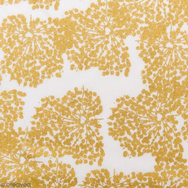 Tissu Rico - Toile de Jouy - Allium - fond Blanc - Par 10 cm (sur mesure) - Photo n°1