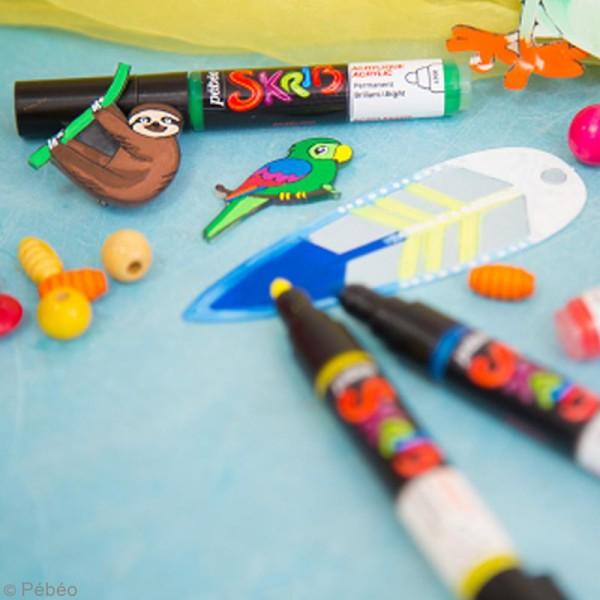 Coffret Skrib Marqueur peinture acrylique - Mat - 4 marqueurs - Photo n°2