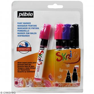 Coffret Skrib Marqueur peinture acrylique - Mat - 4 marqueurs
