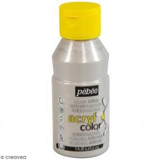 Peinture Acrylcolor brillante - Argent Paillette - 150 ml