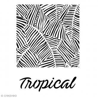 Pochoir multiusage A4 - Feuilles Tropical - 1 planche