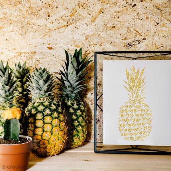 Pochoir multiusage A4 - Ananas ajouré - 1 planche - Photo n°2