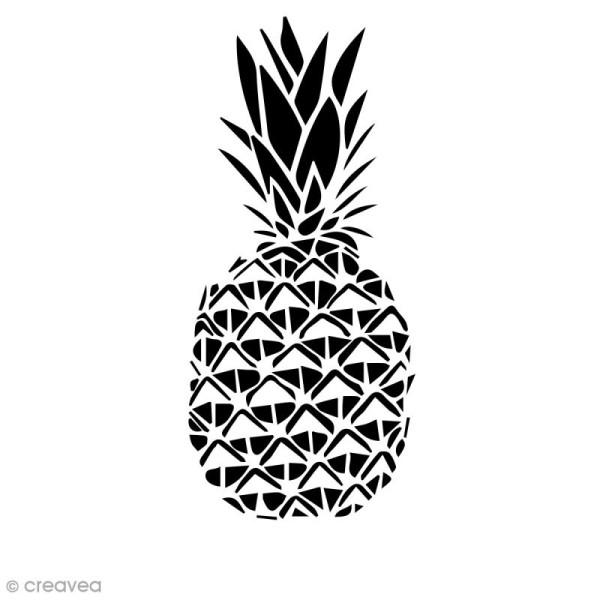 Pochoir multiusage A4 - Ananas ajouré - 1 planche - Photo n°1