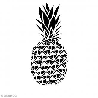 Pochoir multiusage A4 - Ananas ajouré - 1 planche