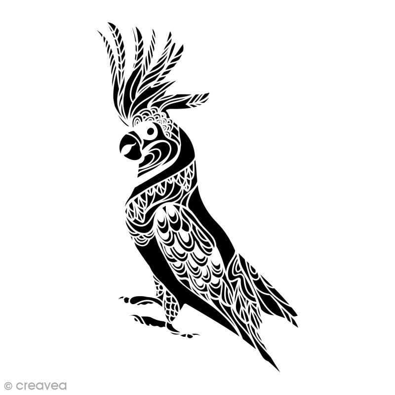 Pochoir multiusage a4 perroquet ajour 1 planche for Acheter pochoir mural