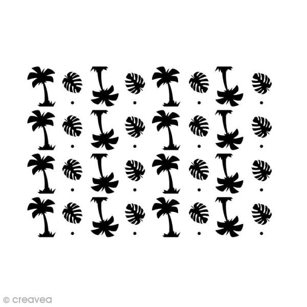 Pochoir multiusage A5 - Palmier - 1 planche - Photo n°1