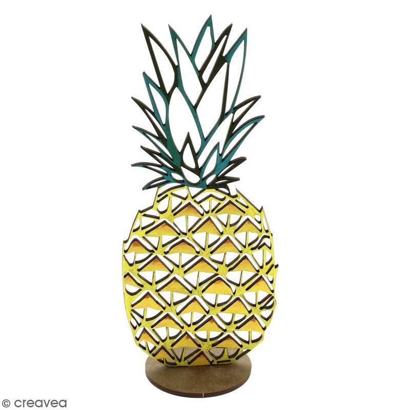 Déco 3D sur socle à monter - Ananas ajouré - 2 pcs - Photo n°3