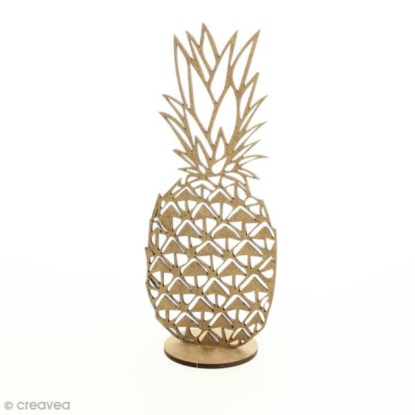 Déco 3D sur socle à monter - Ananas ajouré - 2 pcs - Photo n°1