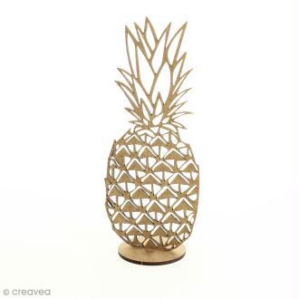 Déco 3D sur socle à monter - Ananas ajouré - 2 pcs