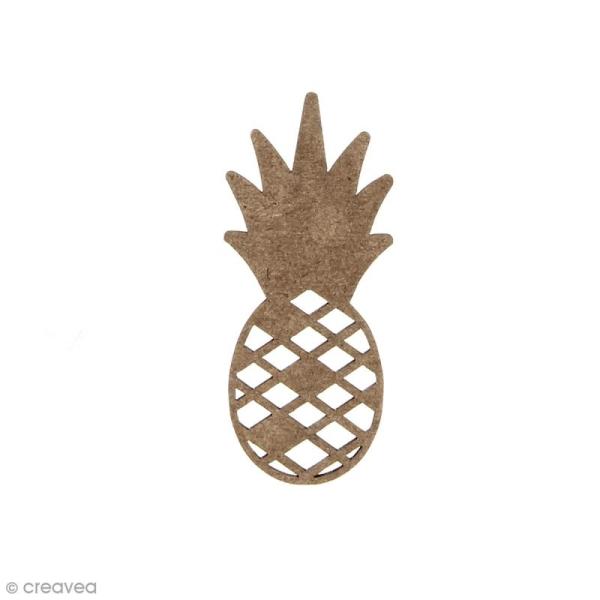 Ananas en bois à décorer - 6 x 2,5 cm - Photo n°1
