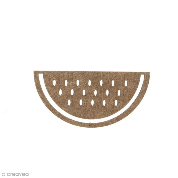 Pastèque en bois à décorer - 6 x 2,8 cm - Photo n°1