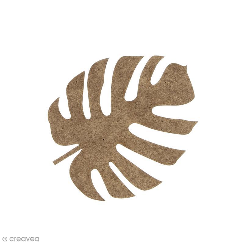 Feuille de voyageur Monstera en bois à décorer - 6,2 x 5 cm - Photo n°1