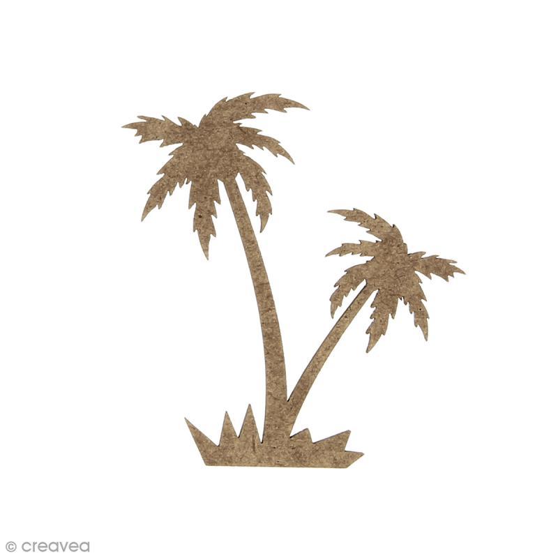 Palmier complet en bois à décorer - 6 x 6 cm - Photo n°1