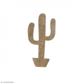 Cactus en bois à décorer - 5,7 x 2,9 cm