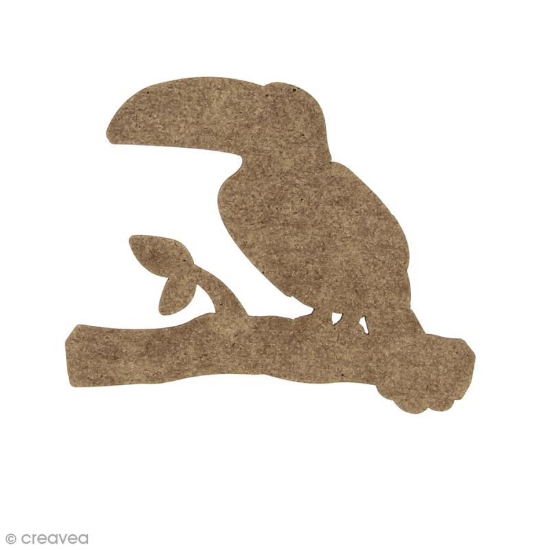 Toucan en bois à décorer - 6,8 x 5 cm - Photo n°1