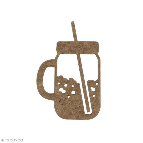 Mason Jar en bois à décorer - 6,2 x 4 cm - Photo n°1