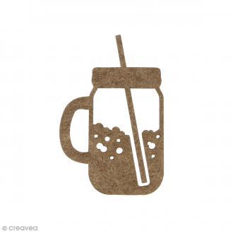 Mason Jar en bois à décorer - 6,2 x 4 cm