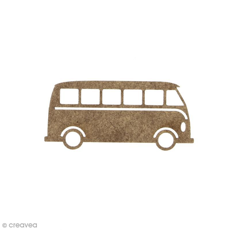 Combi Van en bois à décorer - 6 x 2,7 cm - Photo n°1