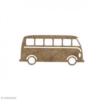 Combi Van en bois à décorer - 6 x 2,7 cm