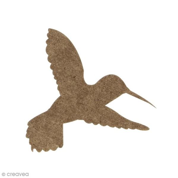 Colibri en bois à décorer - 7,3 x 6 cm - Photo n°1
