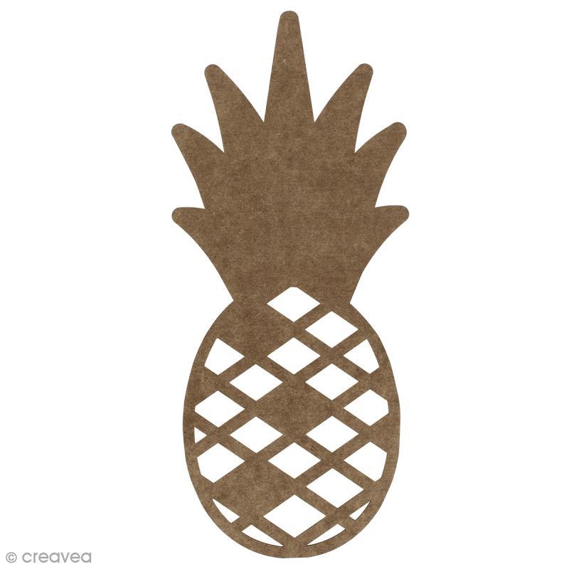 Ananas en bois à décorer - 30 cm - Photo n°1