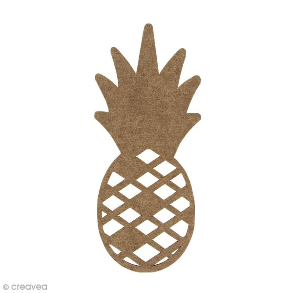 Ananas en bois à décorer - 15 cm - Photo n°1