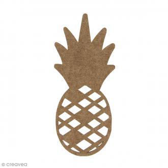 Ananas en bois à décorer - 15 cm