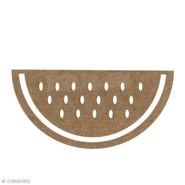 Pastèque en bois à décorer - 15 cm - Photo n°1