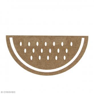 Pastèque en bois à décorer - 15 cm