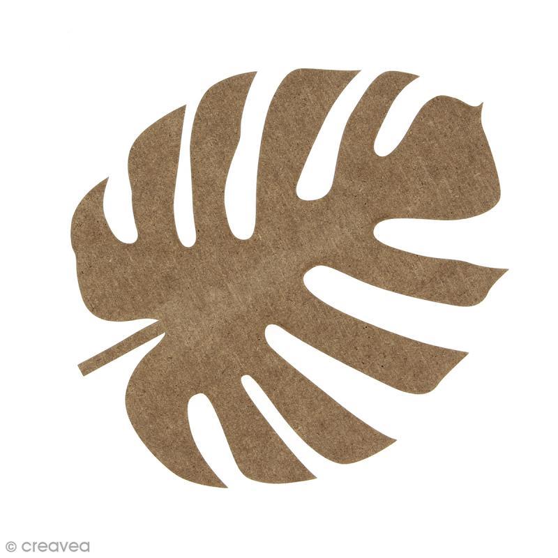 Feuille de voyageur Monstera en bois à décorer - 15 cm - Photo n°1
