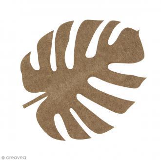 Feuille de voyageur Monstera en bois à décorer - 15 cm
