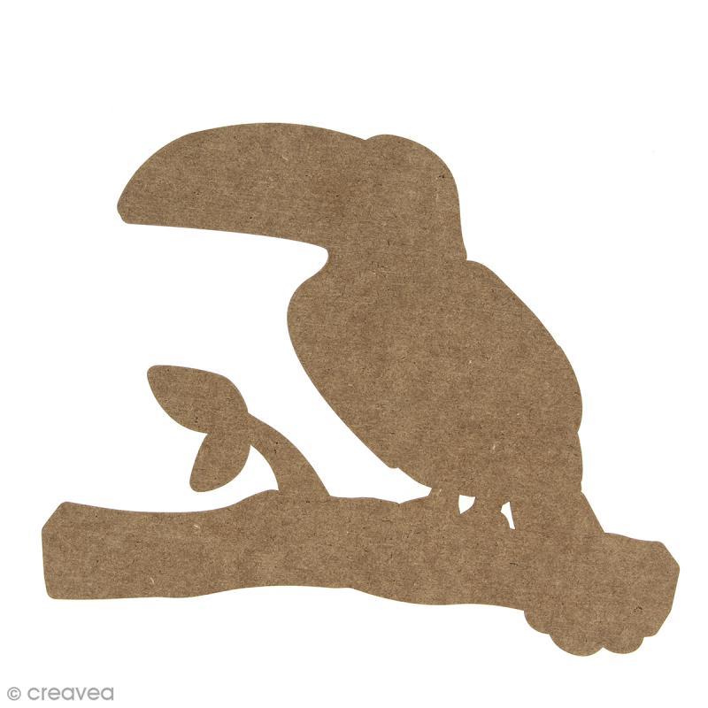 Toucan en bois à décorer - 15 cm - Photo n°1