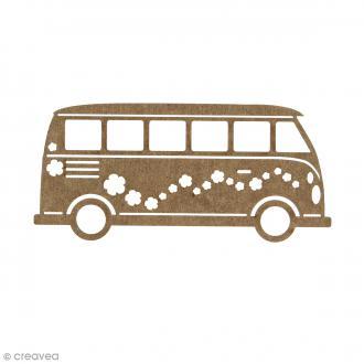 Combi Van en bois à décorer - 15 cm